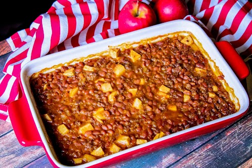Spicy Apple Baked Beans