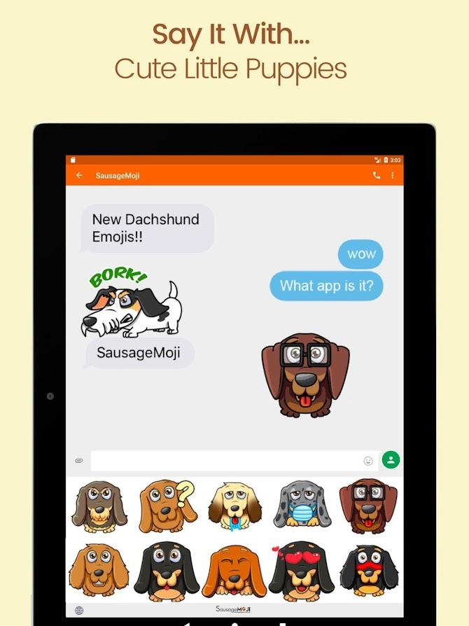 SausageMoji Stickers Android 12