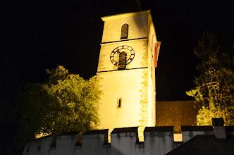 Photo: Eine würdige 1. Augustfeier nahm beim schön beleuchteten Kirchturm ein friedliches  Ende.