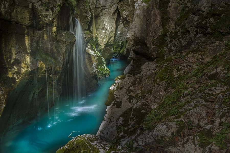 Soca river, Bovec valley, Slovenia, Europe by Klemen Ramoves - Nature Up Close Water