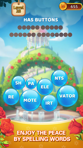 Word Village - Word Bubble Crush & Puzzle Game android2mod screenshots 1