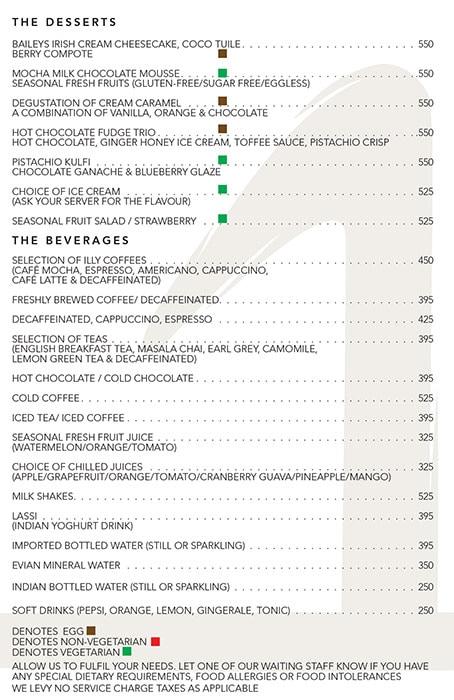 The One - Le Meridien menu 6