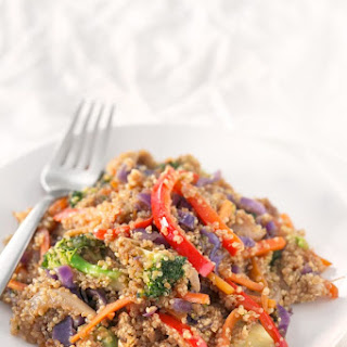 Quinoa Stir Fry with Vegetables.