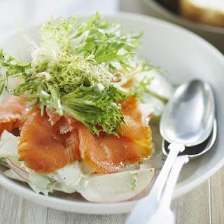 Smoked Salmon, Apple and Celery Salad.
