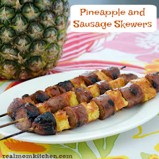 Sausage and Pineapple Skewers Recipe
