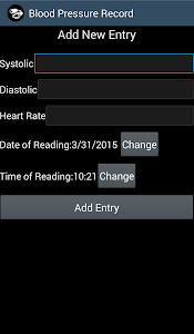 Blood Pressure Record free screenshot 1
