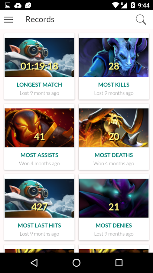 statistics for dota 2 live games android apps on google play