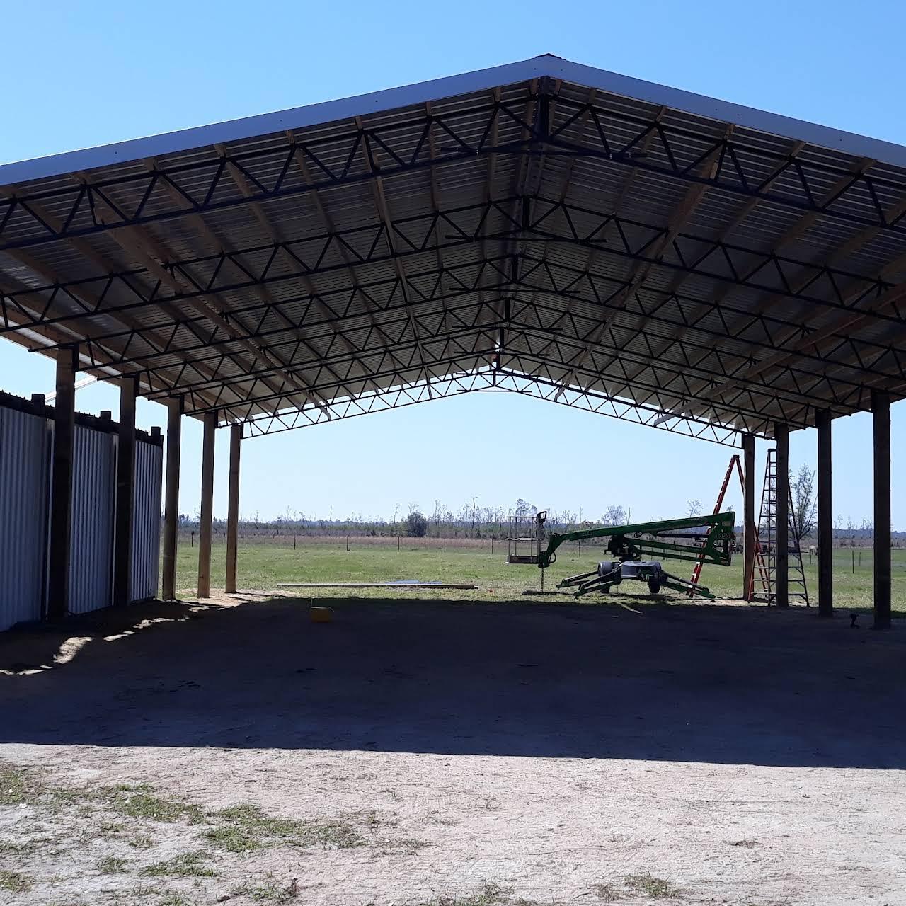 American Barn Busters LLC Agricultural steel truss pole barn