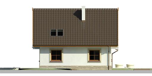 Dom przy Cyprysowej 10 - Elewacja lewa