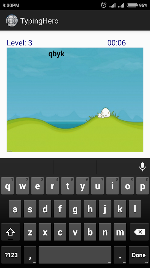 Typing Hero- screenshot