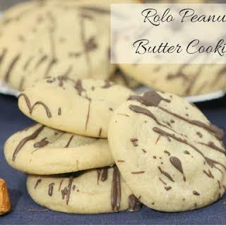 Rolo Peanut Butter Cookies.
