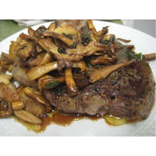 Rib-Eye With Chanterelles