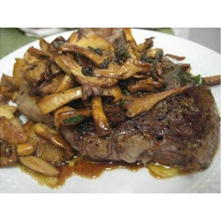 Rib-Eye With Chanterelles.