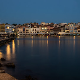 Chania  by Anngunn Dårflot - City,  Street & Park  Night