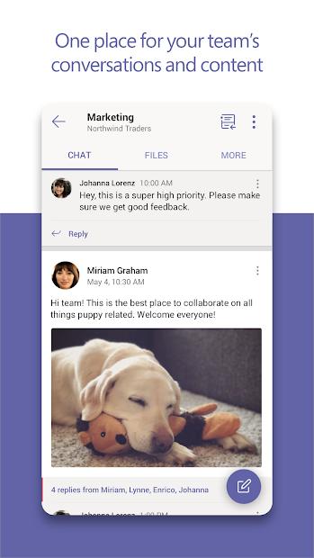 Microsoft Teams Android App Screenshot