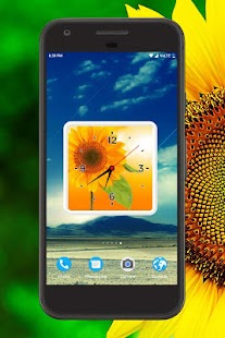 Sun Flower Clock Live Wallpaper - náhled