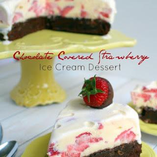 Chocolate Covered Strawberry Ice Cream Dessert