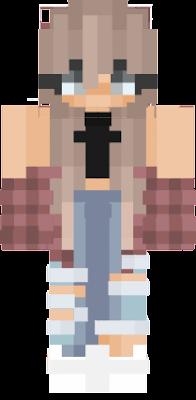 Minecraft Girl Skin Aesthetic Catet P