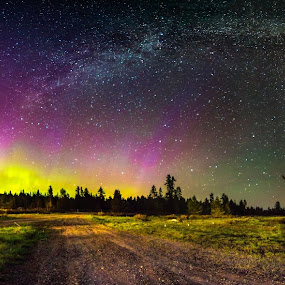 Double arch by Aditi Dinakar - Landscapes Starscapes ( canon, idaho, milkyway, yellowstone national park, northern lights, aurora borealis, astrophotography, panorama )
