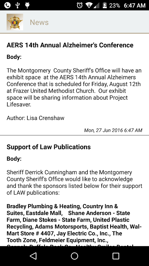 Montgomery County AL Sheriff- screenshot