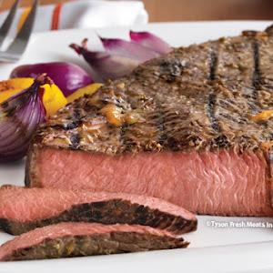 Beef Sirloin with Mustard Glaze