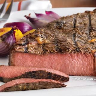Beef Sirloin with Mustard Glaze.