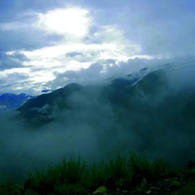 Landscapes by Ashish Bikram Thapa - Landscapes Cloud Formations ( hills, sky, clod, grass, weather )