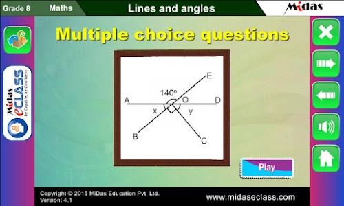 MiDas eCLASS Maths 8 Demo screenshot 4