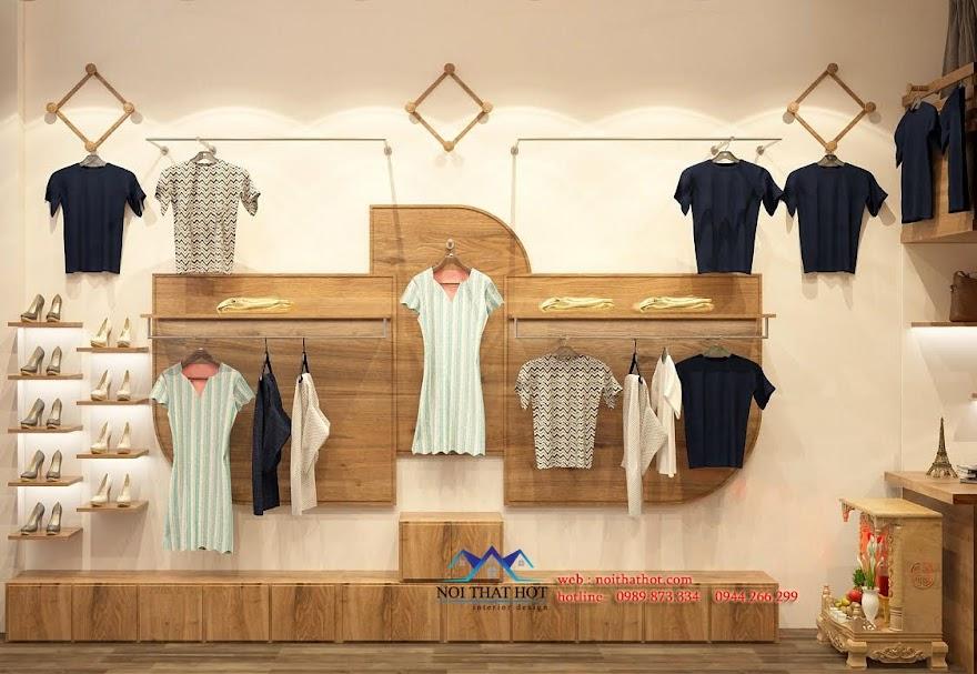 thiết kế nội thất cửa hàng thời trang lạ mắt