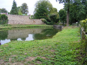 Photo: The ramparts come to an end at this small pond.