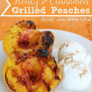 Honey & Cinnamon Grilled Peaches