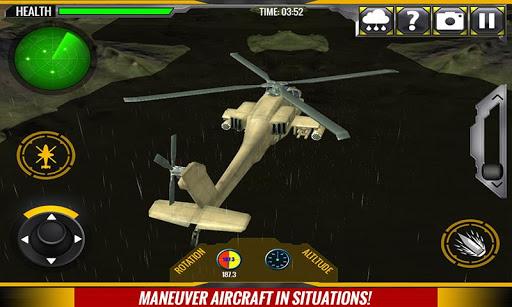 军用直升机救援行动
