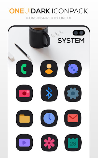Screenshot for ONE UI DARK Icon Pack : S10 in United States Play Store