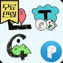 Typo Calligraphy Art Theme icon
