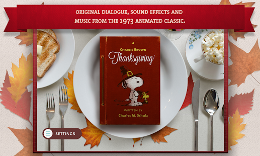 A Charlie Brown Thanksgiving - Peanuts Read & Play Screenshot