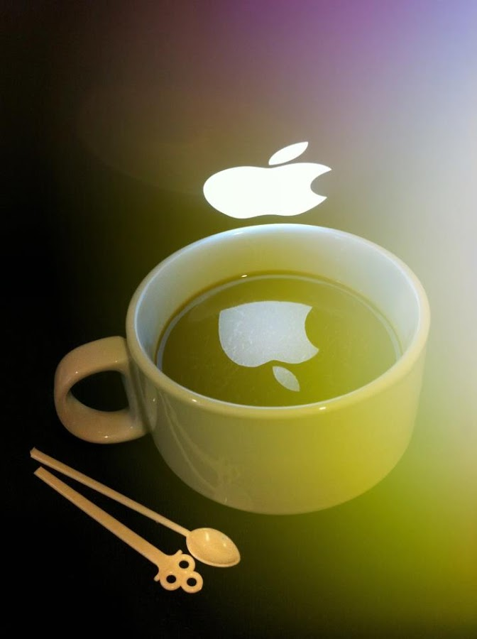 by Abd El-Salam - Instagram & Mobile iPhone ( coffe, apple, glass )
