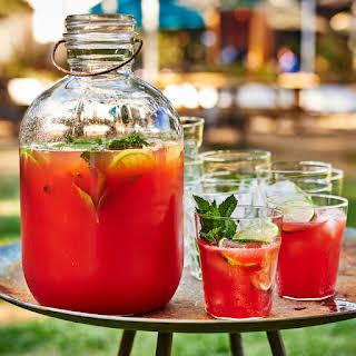 Tequila-Watermelon Aguas Frescas with Prosecco.