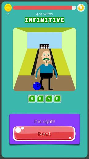 Irregular Verbs English Game 1.321 screenshots 7