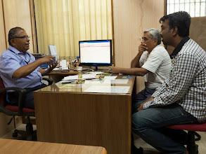 Photo: With NDC Chief Mr. Krishnakumar