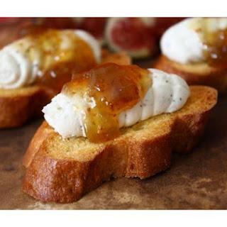 Herb Goat Cheese and Fig Crostini.