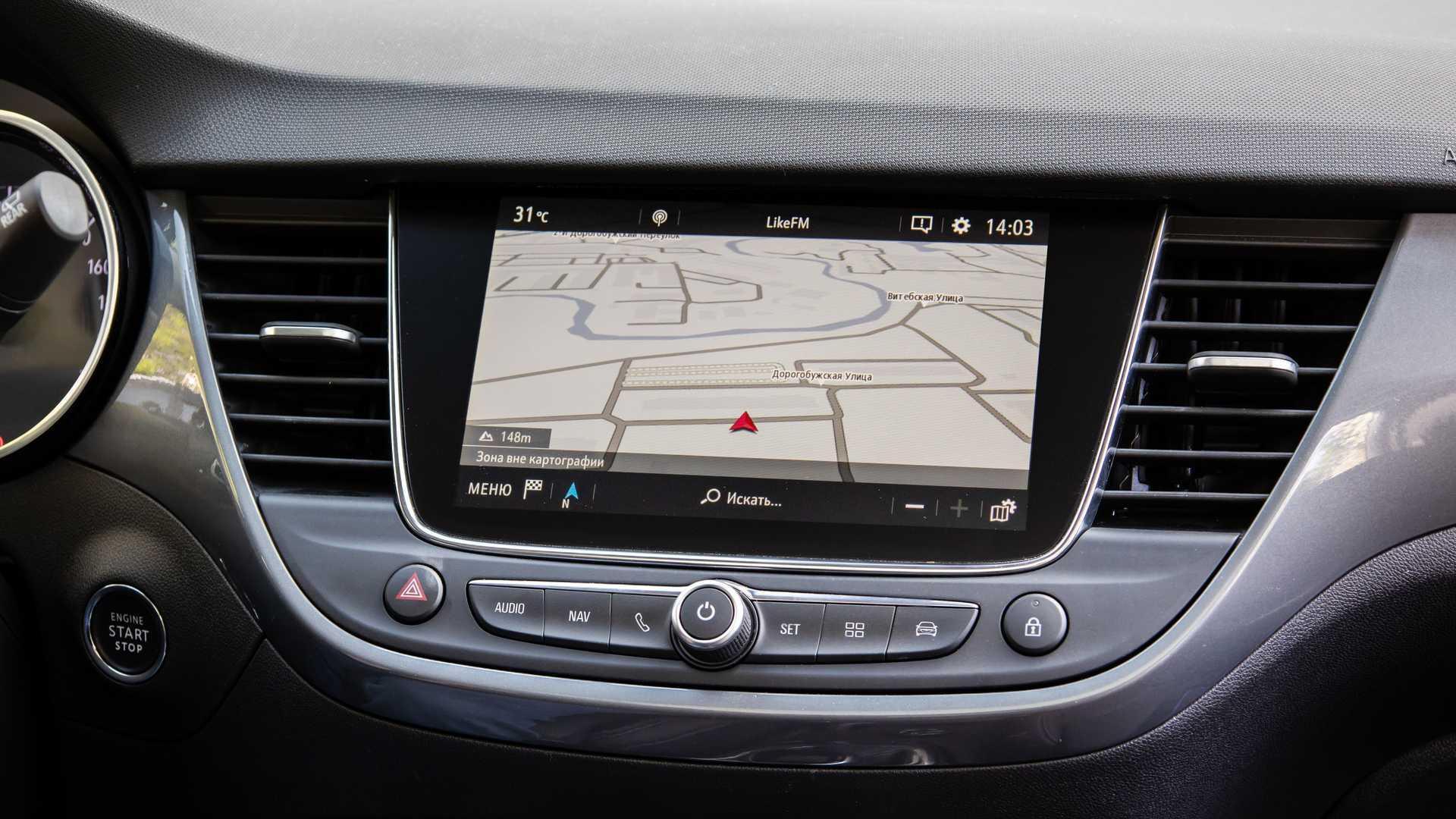 Карта навигационной системы Opel