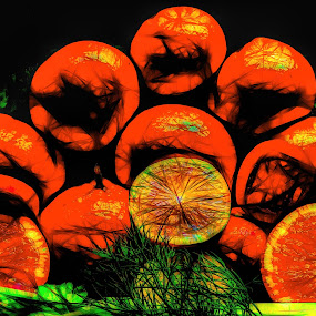 Abstract Oranges by Dave Walters - Food & Drink Fruits & Vegetables ( oranges, lumix fz2500, abstract, food, digital art )