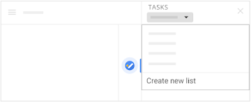 Create new list from the Tasks menu