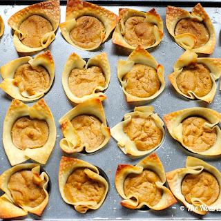 Mini Wonton Pumpkin Pie Cups