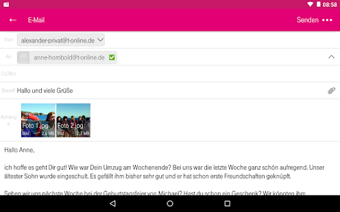 Telekom Mail Screenshot