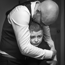 Consoling by Steve Kazemir - People Street & Candids ( loving, caring, son, concerned, father, consoling )