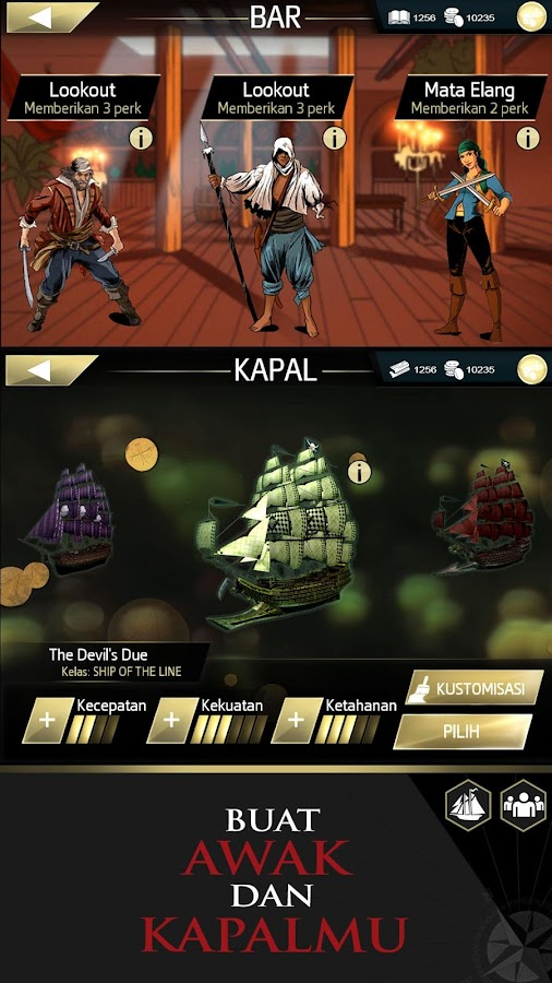 Assassin's Creed Pirates- tangkapan layar