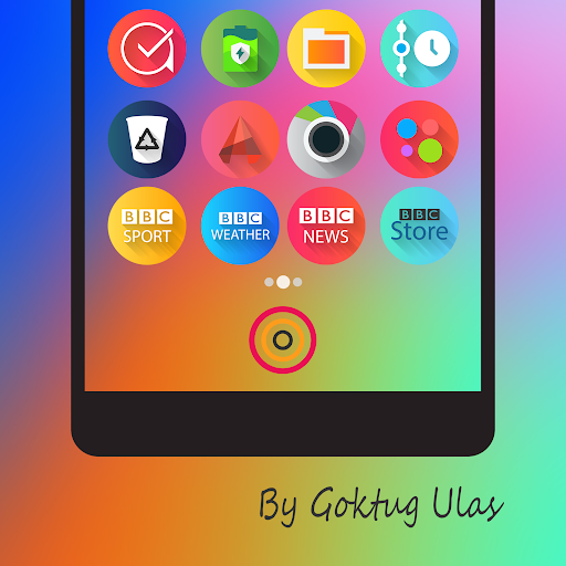 Graby Spin - Icon Pack Apps für Android screenshot