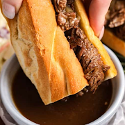 French Beef Dip Sandwich