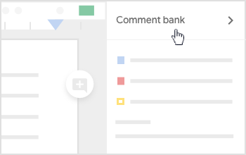 Click Comment bank